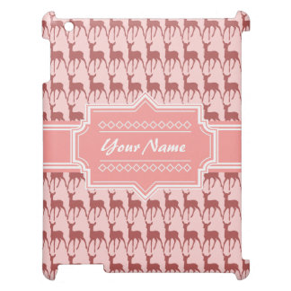 Coral Pink Salmon Deer Pattern   Personalized N2 Case For The iPad