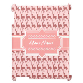 Coral Pink Salmon Deer Pattern   Personalized N2 iPad Covers