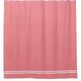 Plain color shower curtains zazzle for Plain pink shower curtain