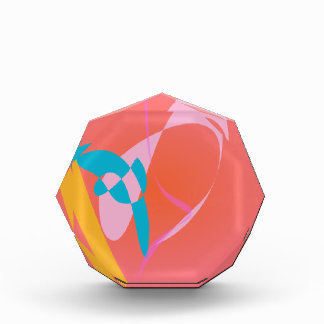 Coral Pink Simple Abstract Art Award
