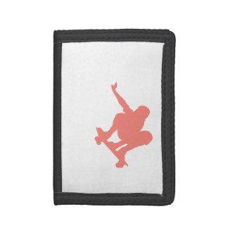Coral Pink Skater Trifold Wallet