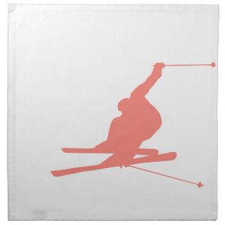 Coral Pink Ski Napkin