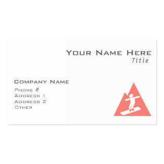 Coral Pink Snowboard Business Card