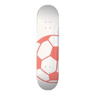 Coral Pink Soccer ball Skate Deck