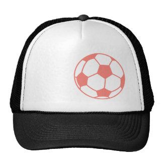 Coral Pink Soccer ball Trucker Hat