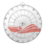 Coral Pink Speed Boat Dartboard
