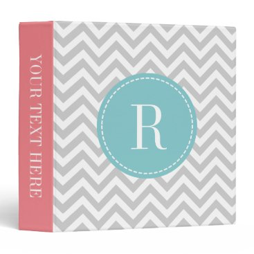 backgroundpatterns Coral pink teal gray chevron pattern 3 ring binder