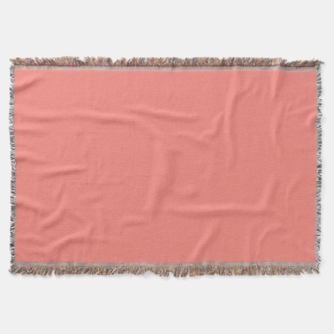 Coral Pink Throw Blanket