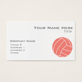 Coral Pink Volleyball Business Card