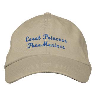 Coral PrincessPanaManiacs Embroidered Baseball Cap