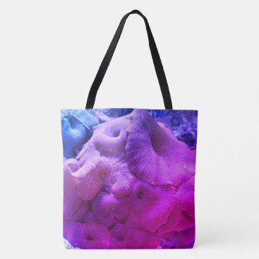 Beach Themed Coral Print Beach Bag