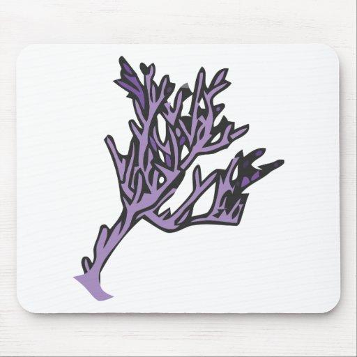 Coral púrpura tapetes de raton