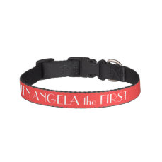 Coral Red Dog Collar Personalized