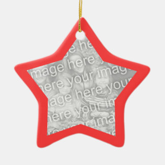 Coral Red Frame Star Ornament