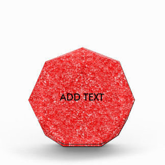 Coral Red Gravel Look Acrylic Award