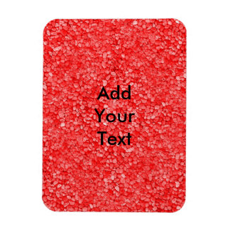 Coral Red Gravel Look Rectangular Photo Magnet