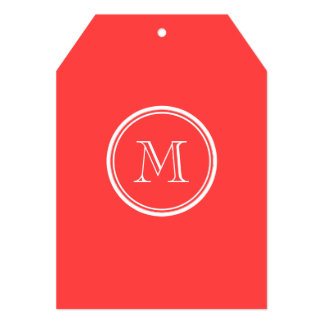 Coral Red High End Colored 5x7 Paper Invitation Card