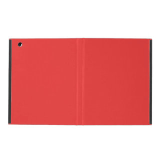 Coral Red High End Colored iPad Folio Case