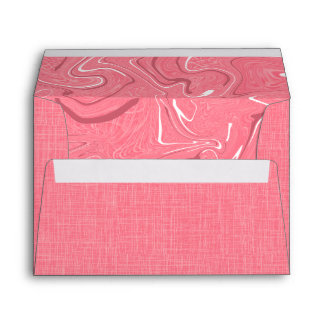 Coral Red Linen Fabric Textured Background Envelope