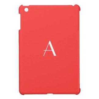 Coral Red Monogram iPad Mini Case