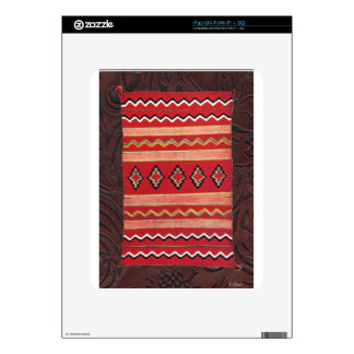 Coral Red Native American Indian Blanket Decal For The iPad