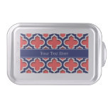 Coral Red Navy 5c Moroccan #5DS Navy Name Monogram Cake Pan