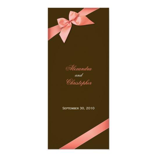 C Red Ribbon Wedding Invitation Announcement