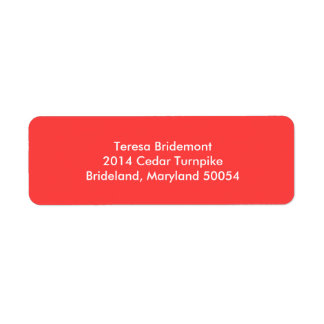 Coral Red Stylish Color Complementing Label