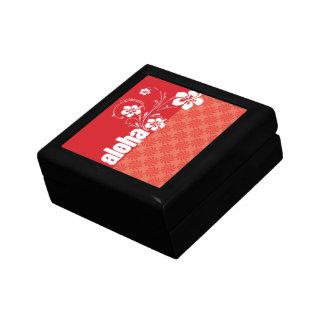 Coral & Red Swirl; Aloha Trinket Boxes