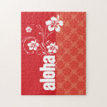 Coral & Red Swirl; Aloha Jigsaw Puzzles