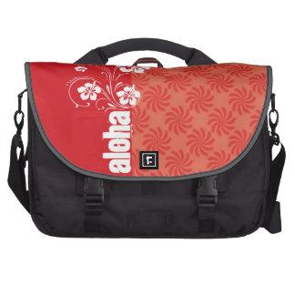 Coral & Red Swirl; Aloha Computer Bag