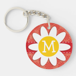 Coral & Red Swirl; Spring Flower Acrylic Keychains