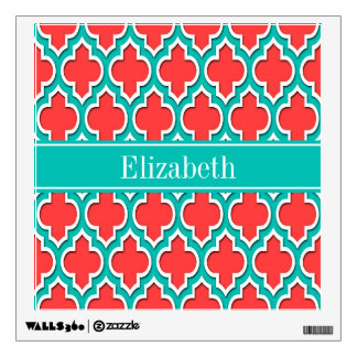 Red Coral Wall Decals Wall Stickers Zazzle - Coral monogram wall decal