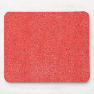 Coral Red Ultrasuede Look Mouse Pad