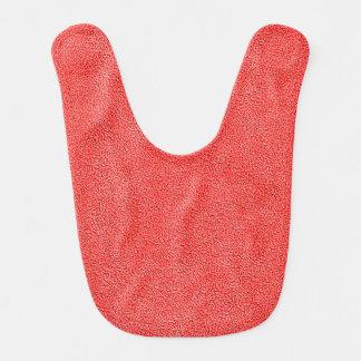 Coral Red Ultrasuede Look Bib
