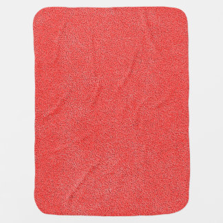 Coral Red Ultrasuede Look Receiving Blankets