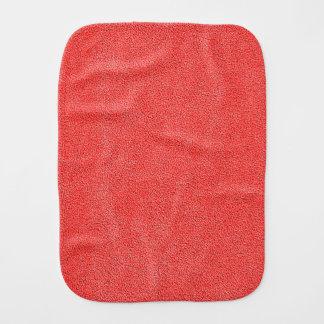 Coral Red Ultrasuede Look Burp Cloths