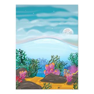 Coral Reef 5.5x7.5 Paper Invitation Card