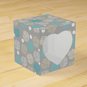 Beach Themed Coral Reef and sand dollar beach theme Favor Box