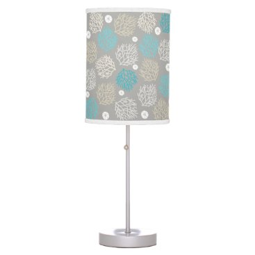 Beach Themed Coral Reef and sand dollar beach theme Table Lamp