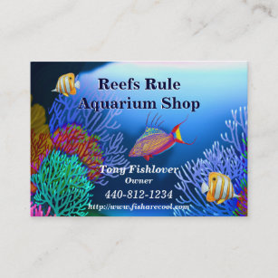 Saltwater fish business cards templates zazzle coral reef aquarium fish business card colourmoves