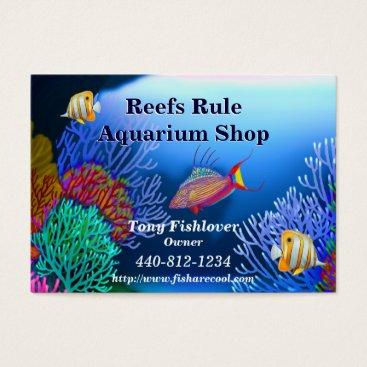 Professional Business Coral Reef Aquarium Fish Business Card