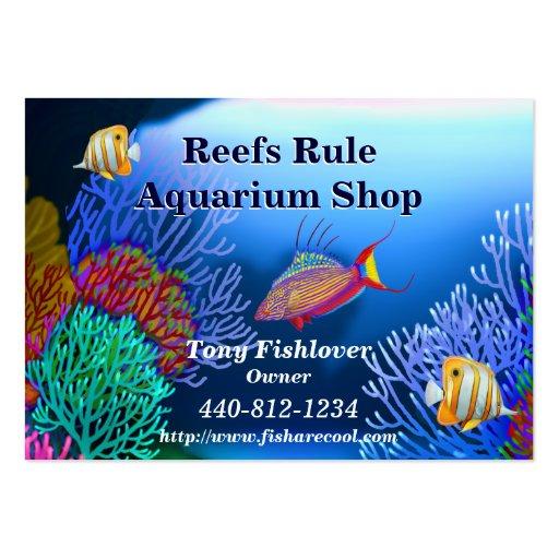 Coral Reef Aquarium Fish Business Card