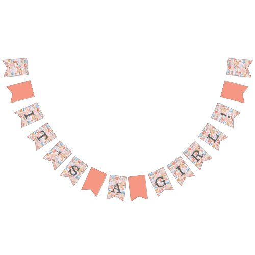 Coral Reef Baby Shower Bunting Flags