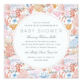 Coral Reef Baby Shower Card