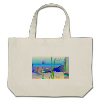 Coral Reef Canvas Bags