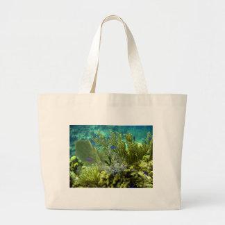 Coral reef tote bags