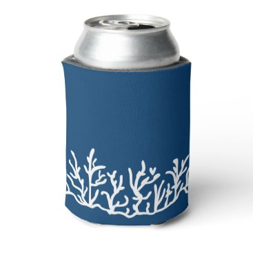 Beach Themed Coral reef beach theme desing can cooler