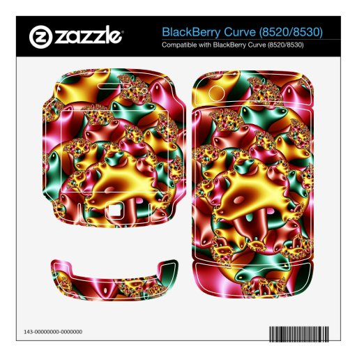 Coral reef BlackBerry curve decal