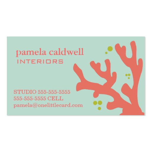 Z Coral Card Coral Reef Business Ca...